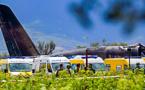مشاهد من مكان وقوع الطائرة العسكرية الجزائرية ببوفاريك