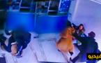 خطير بالفيديو.. شخص يحاول ذبح طليقته في مكان عمومي و أمام المواطنين