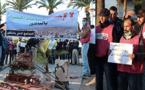 حركة متطوعون من أجل الناظور تخرج لغرس الورود إحتجاجا على تحويل حديقة إلى محطة لسيارات الأجرة