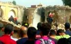 فاجعة.. مقتل طفلين وجرح آخرين وحديث عن مفقودين في حادث انهيار بناية عسكرية بوجدة