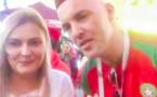 مشجع ناظوري يحيي اصدقاءه بلسان فتاة روسية