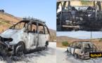 الدريوش.. عائلة تنجو من حريق مهول بعد اندلاعه في سيارتها نواحي دار الكبداني
