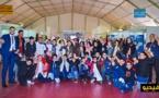 أطفال يستفيدون من ورشات متنوعة على هامش الدورة الثانية من معرض الكتاب المغاربي بوجدة