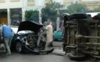 لحظة وقوع حادث خطير وسط طنجة