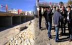 رئيس مجلس جماعة ميضار يقف على أشغال تقوية وصيانة قنطرة واد بورجيم بمدخل المدينة