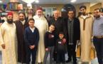 تكريم الشيخ الطاهر التجكاني في عرس بهيج بمسجد الفتح ببروكسيل