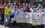 أطباء الأسنان بالناظور يغلقون عياداتهم للاحتجاج وسط العاصمة في مسيرة الغضب وهذا ما يطالبون به الحكومة