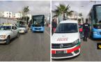 خلاف بين سائقي الطاكسيات و حافلة عمومية يتحول إلى فوضى وسط مدينة الناظور