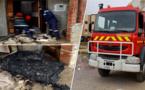الدريوش.. تماس كهربائي يتسبب في اندلاع حريق بمستودع لمعدات الأفراح والحفلات