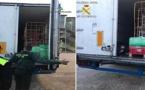 بالصور..  العثور على مواطن مغربي مغمى عليه داخل شاحنة تستعد للسفر الى ألميريا