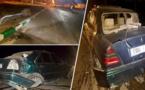"""الدريوش.. حجز سيارة """"ريفولي"""" بعد اصطدامها بمدار طرقي في حادثة سير مروعة"""