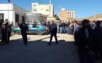 إضراب واحتجاج في قاسيطا بسبب انعدام قنوات الصرف الصحي