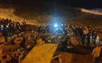 وفاة شخصين اثر إنقلاب شاحنة بشاطئ صباديا