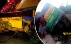بالصور.. انقلاب حافلة يخلّف إصابة 14 شخصا نواحي الدريوش