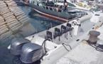 بالصور.. اعتراض قارب مزود بمحركين من 300 حصان كان بصدد نقل الحشيش الى إسبانيا