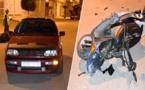 بالصور.. حادثة سير وسط مدينة الدريوش قبيل الإفطار ترسل شاباً للمستعجلات