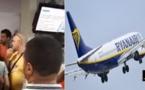 """بالفيديو.. مغاربة وفرنسيون يحتجون داخل المطار على إلغاء رحلة """"ريانير"""" من باريس إلى المغرب"""