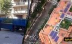 شاهدوا بالفيديو.. مروحية طواف إسبانيا تكشف بالصدفة مزرعة للحشيش على سطح مبنى في إقليم كاتالونيا