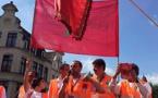 جمعيات مغربية بأروبا تدين احراق العلم الوطني