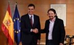 """الانتخابات الإسبانية.. حزبا """"سانشيز"""" و """"بوديموس"""" يتوصلان إلى اتفاق مبدئي لتشكيل حكومة تقدمية"""