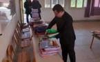 توزيع مستلزمات دراسية بالدريوش في إطار برنامج التربية غير النظامية الجيل الجديد