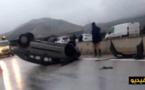 شاهدوا بالفيديو.. فاجعة بإقليم تازة .. 8 قتلى وعشرات الإصابات في حادث انقلاب حافلة
