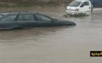 شاهدوا.. فيضانات تغلق الطريق الرابطة بين سلوان والعروي