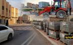 شاهدوا.. وكالة ماراتشيكا تقوم بتهئية حي بوعرورو وتزفت جميع شوارعه