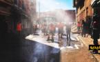 سلطات مدينة بني انصار تطلق عملية تعقيم وتطهير شوارع وأزقة المدينة للوقاية من انتشار فيروس كورونا