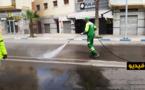 في يوم العيد.. عمال النظافة بالناظور يواصلون تعقيم شوارع وأزقة المدينة