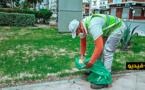 شاهدوا.. هكذا يشتغل عامل  النظافة يوم العيد في زمن كورونا
