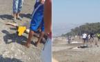 بالصور.. مياه شاطئ السواني تلفظ جثة شاب مجهول الهوية