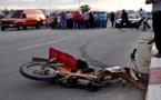 سيارة تصدم دراجة نارية بحي المطار وترسل السائق وسيدة ورضيع لمستعجلات الناظور