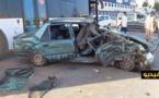 تصادم 3 سيارات بأزغنغان يتسبب في نقل سائق سيارة الأجرة إلى المستشفى