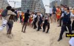 فيديو.. شجار عنيف بين مجموعة من المواطنين والشرطة في  بلانكبرخ البلجيكية