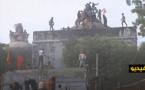 بناء معبد على أنقاض مسجد في الهند يثير مخاوف مسلمين من تجدّد العنف