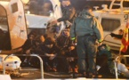 إنقاذ مهاجرين من أصل مغاربي كانوا على متن قارب في عرض البحر