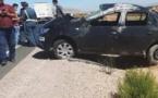 """الدريوش.. حادثة سير خطيرة إثر انقلاب سيارة في منعرجات """"تيزطوطين"""""""