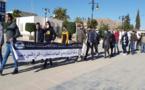 تنسيقية الدريوش للمعطلين تجوب شوارع ميضار في شكل احتجاجي
