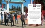 حملة الشواهد المعطلون بتمسمان يحتجون أمام مقر الجماعة