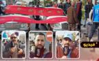 مهنيو سيارات الأجرة الكبيرة خط أزغنغان بالناظور يصعدون من احتجاجاتهم ويطالبون بحل لمشاكلهم