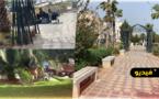 حديقة 3 مارس وسط الناظور تتحول إلى مأوى للمتشردين ومطرحاً للأزبال