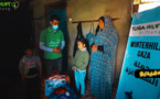سكان غزة بفلسطين يتلقون مساعدات إنسانية من مؤسسة تويزا بألمانيا