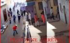 فيديو شجار بالحجارة والأسلحة البيضاء يستنفر رجال الأمن