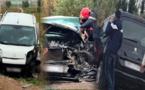 اصطدام ثلاث سيارات في حادثة سير مروعة على الطريق الرابطة بين بن الطيب والدريوش