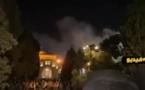شاهدوا.. اندلاع حريق مهول داخل المسجد الأقصى بالقدس الشريف