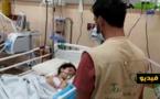 """جمعية """"تويزا"""" للإغاثة تصل لفلسطين وتسلم مساعدات لساكنة غزة وتزور عدد من المصابين"""