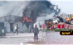 شاهدوا.. حريق يأتي على مسكن عمال ميناء الناظور غرب المتوسط