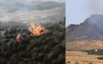 حريق مهول يلتهم مساحة كبيرة من الغطاء الغابوي بالقرب من مدينة زايو