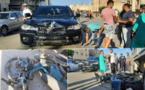 سائق دراجة نارية يتسبب في حادث سير بطريق أزغنغان